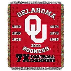 "Brand New Oklahoma ""Commemorative"" 48""x 60"" Tapestry Throw"