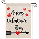 DOLOPL Valentines Garden Flag 28x40 Inch Double Sided Decorative Happy Valentine's Day Love Heart Yard House Flag for…