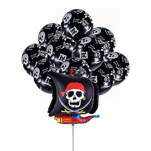NUOBESTY 26 Piezas Globos de Fiesta Pirata Globos de Papel ...