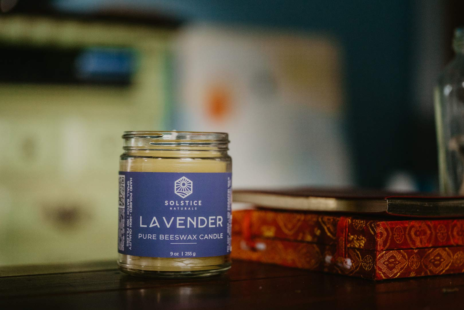 Lavender Scented All Natural 100% Pure Beeswax Aromatherapy Candle Made with Essential Oil, 9 oz - Great for Home Bathroom Living Room Office Study Yoga Spa by Solstice Naturals (Image #7)