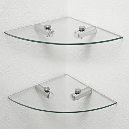 Corner Shelf For Bathroom. 2 X Glass Corner Shelves Bathroom Shelves Kitchen Shelves Storage Amazon Co Uk Kitchen Home