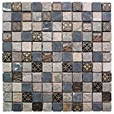 Intrend Tile NS006-D Natural Stone Glass Square