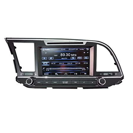 8 Inch Touch Screen Car GPS Navigation for HYUNDAI ELANTRA AVANTE MD 2016-2017 Stereo DVD Player Video Radio Audio Bluetooth Steering Wheel Control AUX IN Free Rear View Camera Free GPS Map of USA
