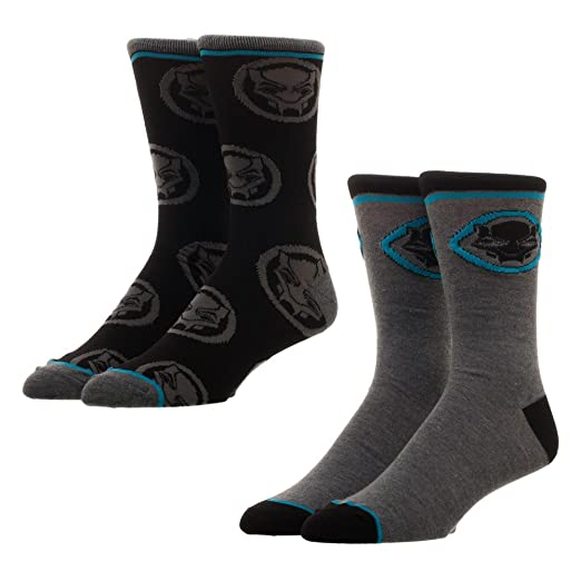 d1c5df5902e Image Unavailable. Image not available for. Color: Black Panther 2 Pack  Crew Sock Set