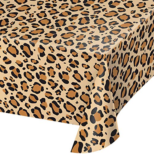 Leopard Print Plastic Tablecloths, 3 ct]()