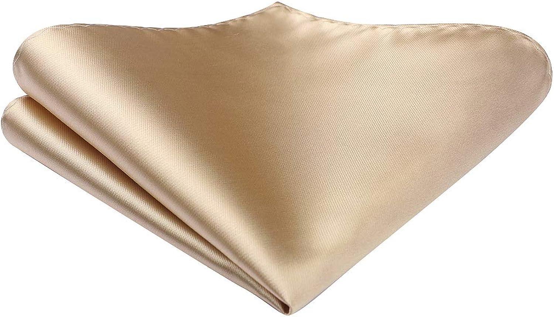 Enlision Hommes Couleur Unie Pr/é-attach/é N/œuds papillon Mouchoir Jacquard Macaron Couleur Auto Bowtie Pocket Square Set pour la F/ête de Mariage