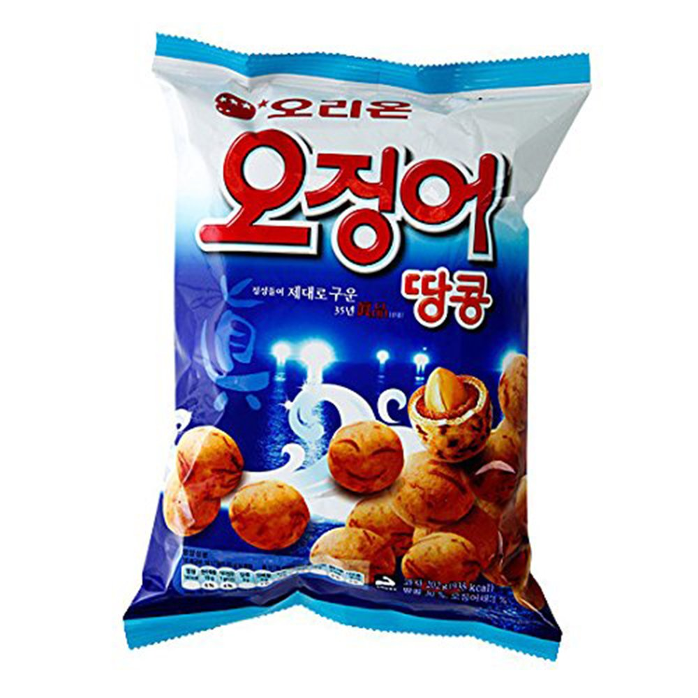 Squid Snack Peanut Ball 98g (Pack of 10) by OrionSnack