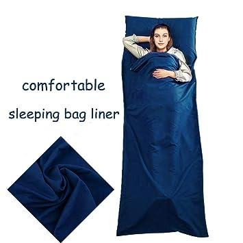 220cmx90cm ligero saco de dormir saco de dormir para viajar, transpirable y suave hoja de