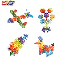 Planet of Toys Building Blocks for Kids Education Snowflakes Blocks Learning Puzzle Toys for Kids -Multi Color (60Pcs.)