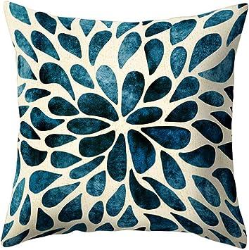 Amazon.com: Ameesi - Funda de almohada cuadrada con diseño ...