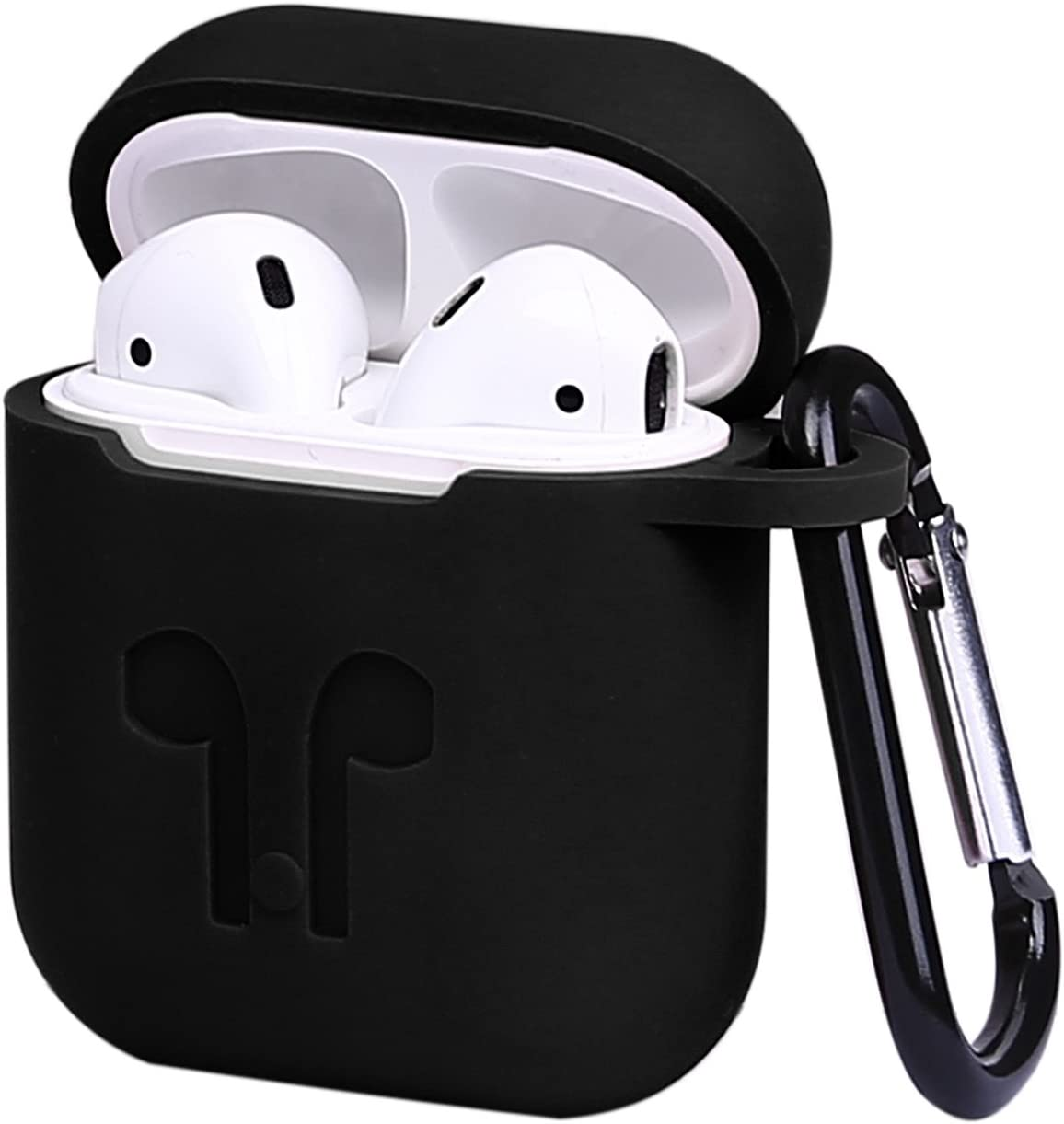HDE AirPod Cover for Apple AirPods 2 1 Protective Silicone Air Pod Case Cover for 1st 2nd Generation Air Pods (Black, Red, Pink, Blue)