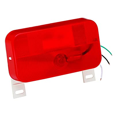 Bragman 92 Series Surface Mount Taillight (Red with License Bracket with White Base): Sports & Outdoors