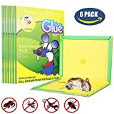 Best MiceRat Glue Trap, [Super Sticky & Irresistible Peanut Butter Scented Glue Board] Perfect Use for Indoor and Outdoor - 6 Packs