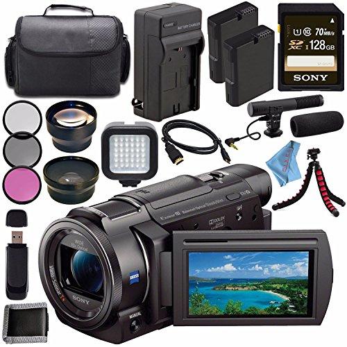 Sony FDR-AX33 FDRAX33 4K Ultra HD Handycam Camcorder + Recha