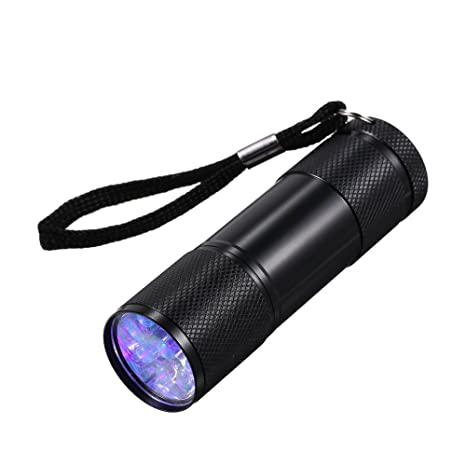 Lixada 9 LED UV Flash Luz Portátil Mascota Orina Manchas Watermark Cometics Detector