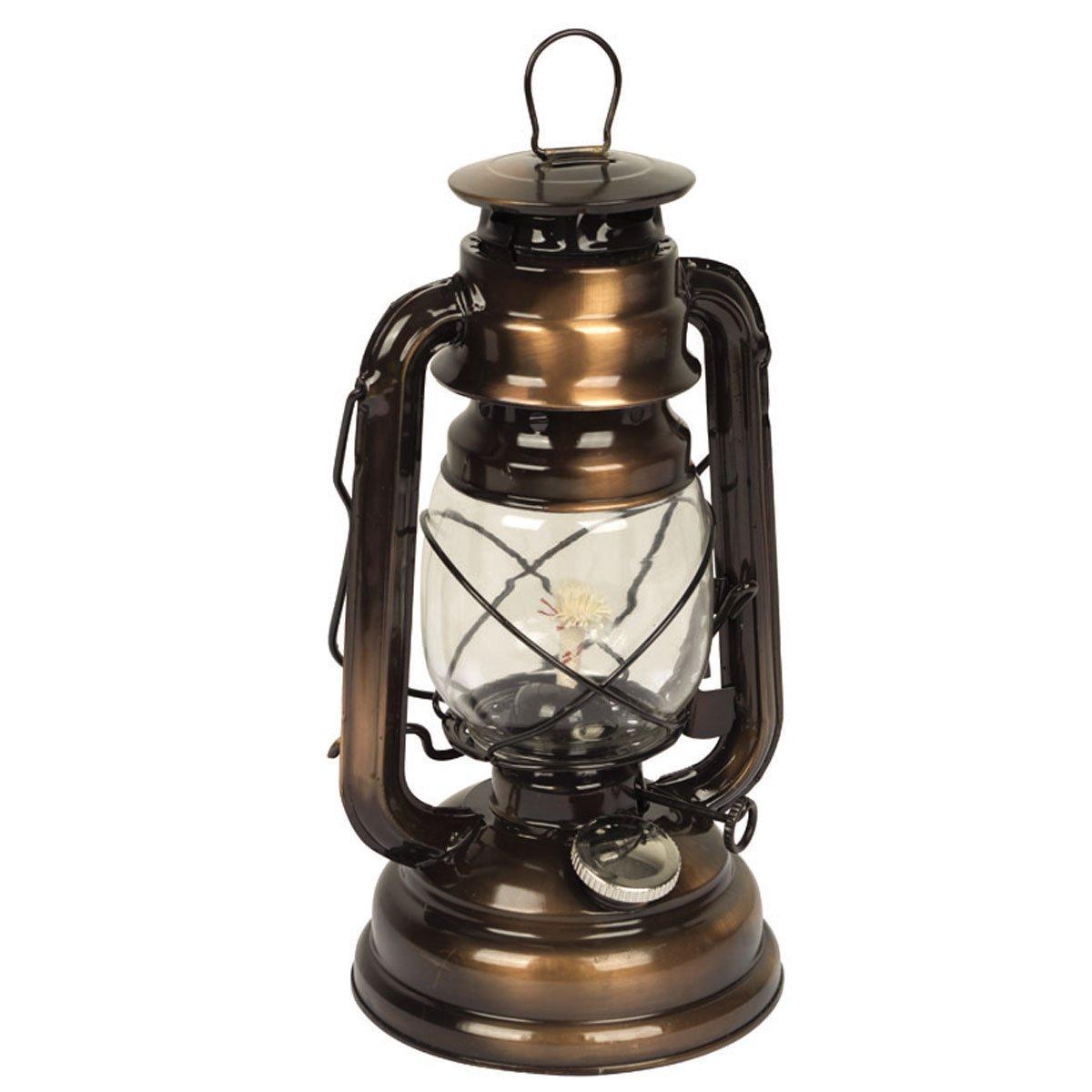 Sturmlaterne Hurricane mit H/änge und Tragegriff Camping Laterne Petroleum Lampe Gartenlaterne Stalllaterne /Öl Lampe bronze 25cm