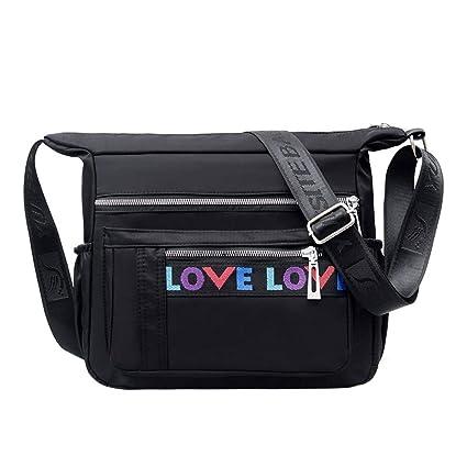 Nylon Bolsa de Tela Cinta de la Cinta Crossbody Multi-Capa ...