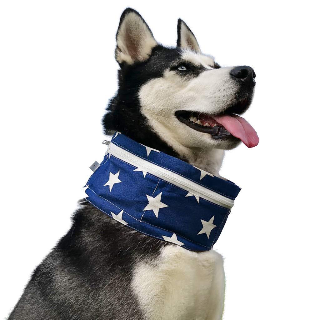 CAOQAO - Collar de refrigeración para Perro o Gato, Ideal para ...
