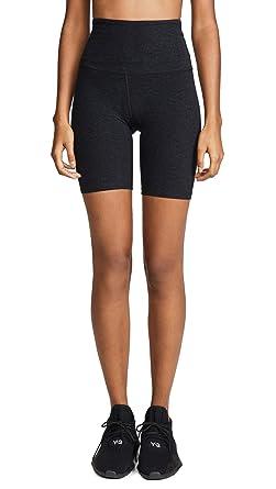 d85df671f8 Beyond Yoga Women's Spacedye High-Waisted Biker Shorts Darkest Night  XX-Small 7