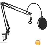 """Neewer NW-35 Microphone Boom Arm Kit, Microphone Scissor Arm Stand with Mic Clip, Pop Filter and 3/8"""" to 5/8"""" Adapter…"""