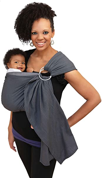 Amazon Com Maya Wrap Lightly Padded Ring Sling Graphite Large