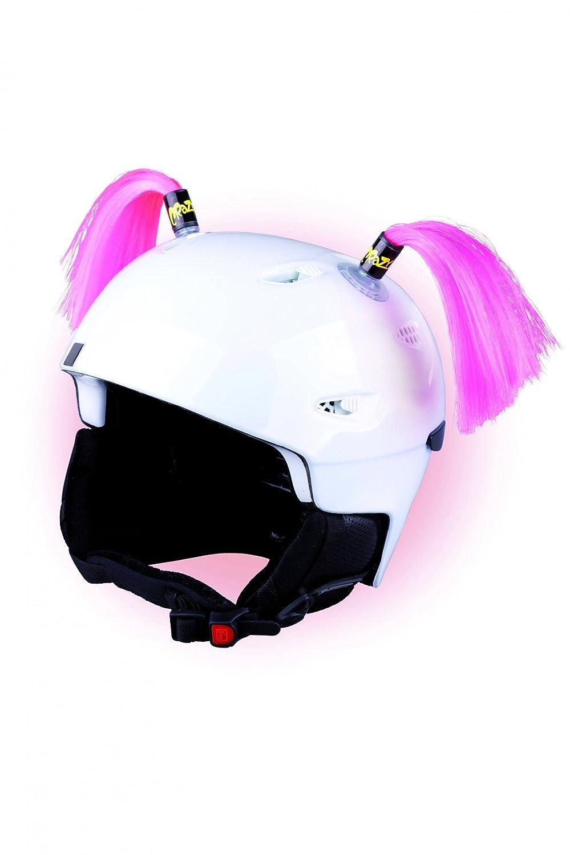 Crazy Ears Helm-Accessoires Zöpfe. Ski-Ohren geeignet für Skihelm Motorradhelm Fahrradhelm und vieles mehr. Helm Dekoration für Kinder und Erwachsene