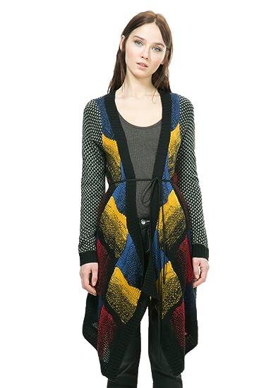 Desigual Damen Strickjacke Azul Oscuro: : Bekleidung