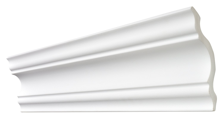 DECOSA Zierprofil A110 SELINA wei/ß 110 x 110 mm 5 Leisten /à 2 m L/änge