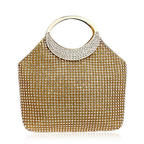 Sac Glitter Épaule Sac Femmes LOUHH Nuptiale Prom Mariage À Pour Party Main Gold Dames Pochette Diamante Clubs Cadeau Sac À Soirée Main De EAESqP