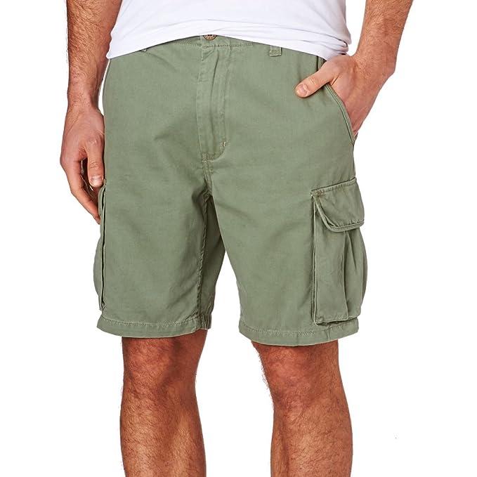 Rusty - Pantalón corto - short - para hombre verde verde 31W x Pantalones Cortos