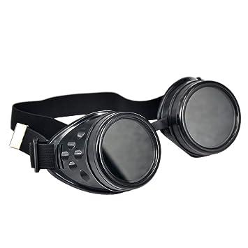 fengge cyber-lunettes gafas de protección gótica soldar Steampunk (negro): Amazon.es: Deportes y aire libre