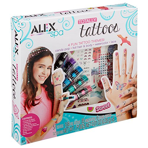 ALEX Spa Girls Totally Temporary Tattoo Kit