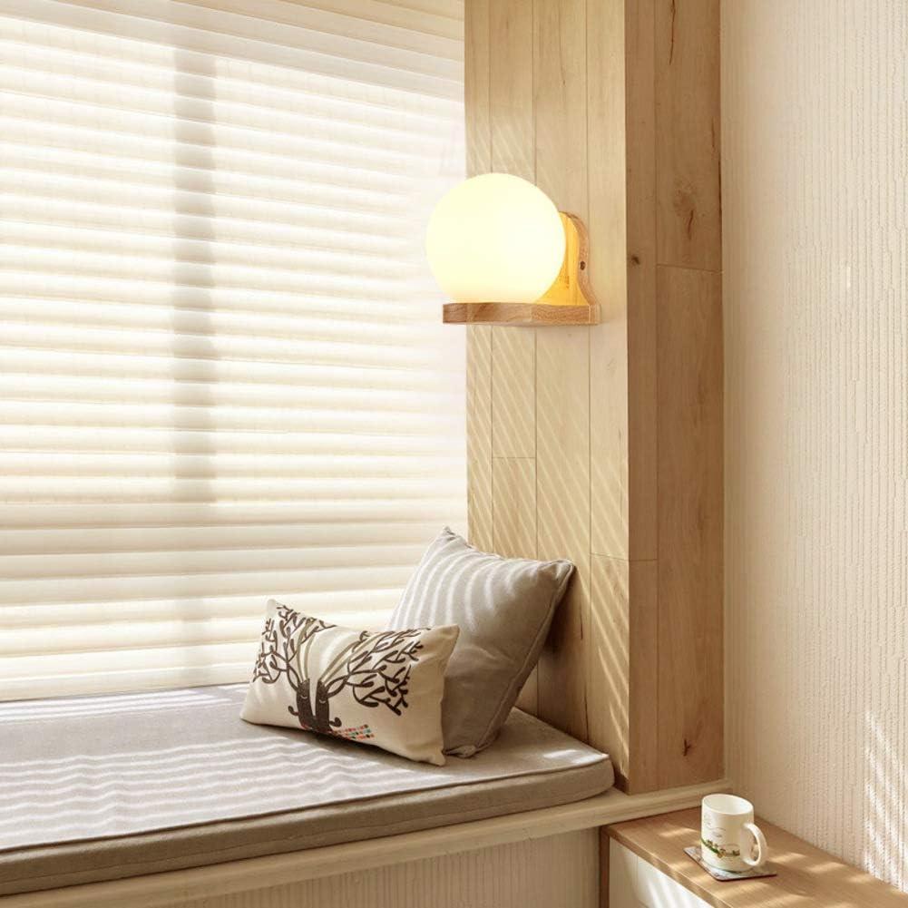 Led e27 E26 Lampada da parete camera da letto,Parete in legno moderna applique illuminazione per camera da letto soggiorno sfondo lampada da parete-A A