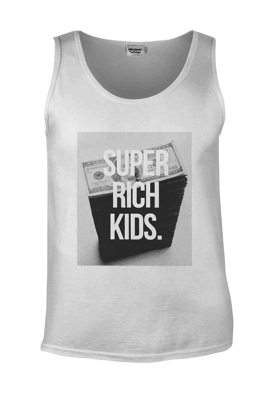 Super Rich Kids Money Dollar White Men Vest Tank Top