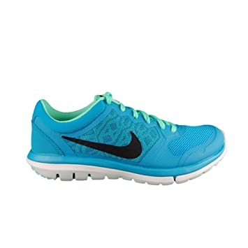 cab3a00c96db0 Nike Flex 2015 Run Women Laufschuhe blue lagoon-black-green glow-white -
