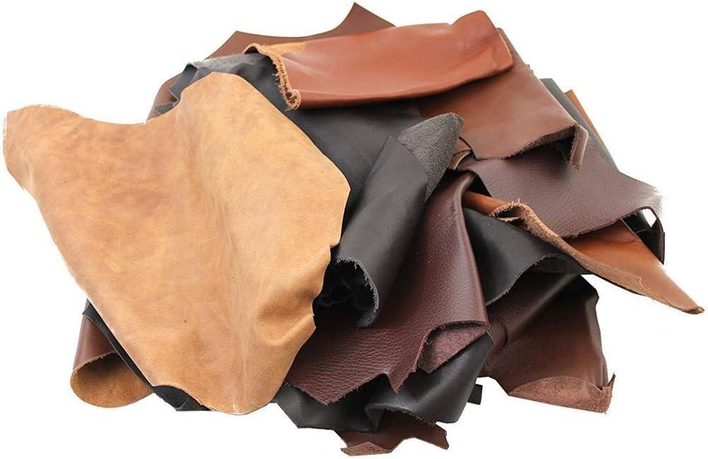 Diff/érentes tailles 1 kg pour cuir Id/éal pour tous travaux manuels Marron Diff/érentes nuances