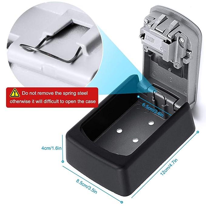 Diyife - Caja de Seguridad para Llaves, Montaje en la Pared, Almacenamiento Seguro para la casa, el Garaje, el Colegio y repuestos de Llaves, ...