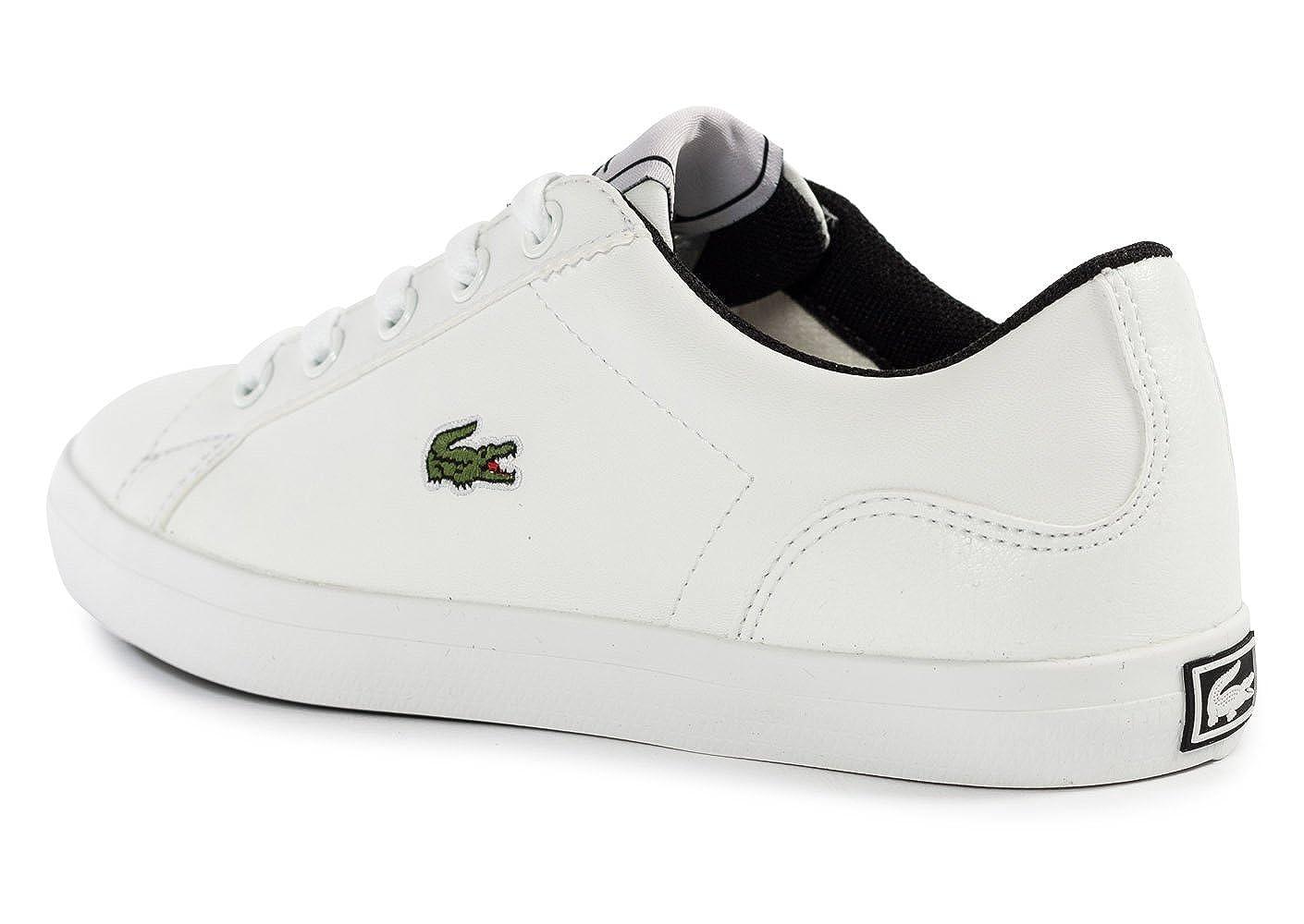 Lacoste - Zapatillas de Material Sintético para niño, Color Blanco, Talla 28 EU Niño: Lacoste: Amazon.es: Zapatos y complementos