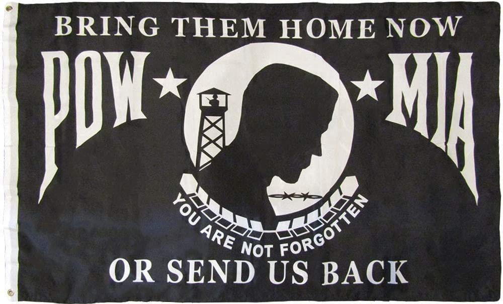 American Wholesale Superstore 3x5 Pow Mia You are Not Forgotten Bring Them Home Or Send Us Back 3'x5' Premium Quality Heavy Duty 100D Rough Tex Polyester Flag (RUF)