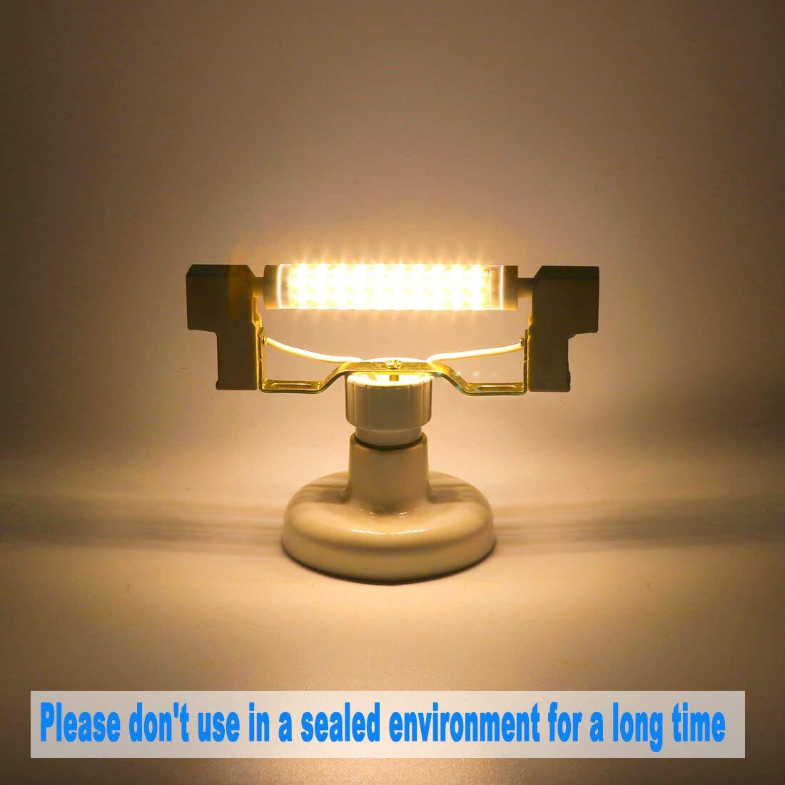 Azhien R7S LED 10W 118mm Lampadina a Doppio Effetto Lineare,Bianco Caldo 3000K,10 Watt,Equivalente a 48W 60W 75W 118mm Lampada Alogena,non Dimmerabile, 230V AC, 1000LM,Confezione da 2