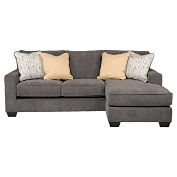 Fabulous Ashley Hodan 7970018 93 Inch Sofa Chaise With Pillows Included Loose Seat Cushions And Track Arms In Marble Ncnpc Chair Design For Home Ncnpcorg
