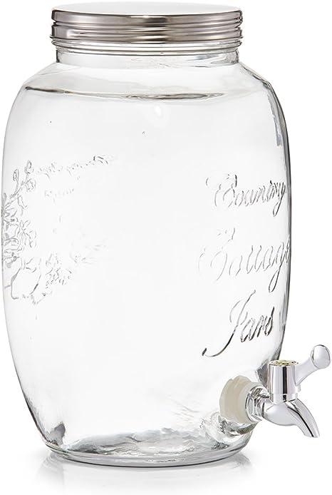 5 L 18.5x18.5x30 cm Zeller 19725 Dispensador de Bebidas Countrystyle Blanco