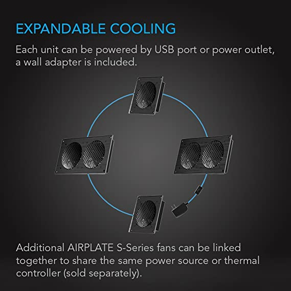 amazon com ac infinity airplate s2 quiet cooling blower fan system rh amazon com