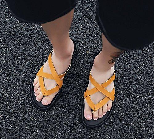 44 spiaggia Sandalo 39 Uomo Size cinturino Giallo Uomo 39 Colore Nero dimensioni caviglia Sandalo Pantofola esterno da Scarpe Sandalo alla estiva Multicolor zZctqw6zC
