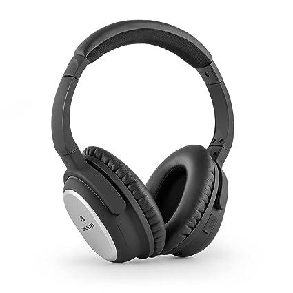 Auna BNC-10 Binaural Diadema Negro, Plata Auricular con micrófono - Auriculares con micrófono