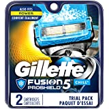 Gillette Fusion5 ProShield Chill Men's Razor Blades, 2 Blade Refills (Packaging May Vary)