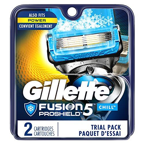 Price comparison product image Gillette Fusion5 ProShield Chill Men's Razor Blades, 2 Blade Refills (Packaging May Vary)