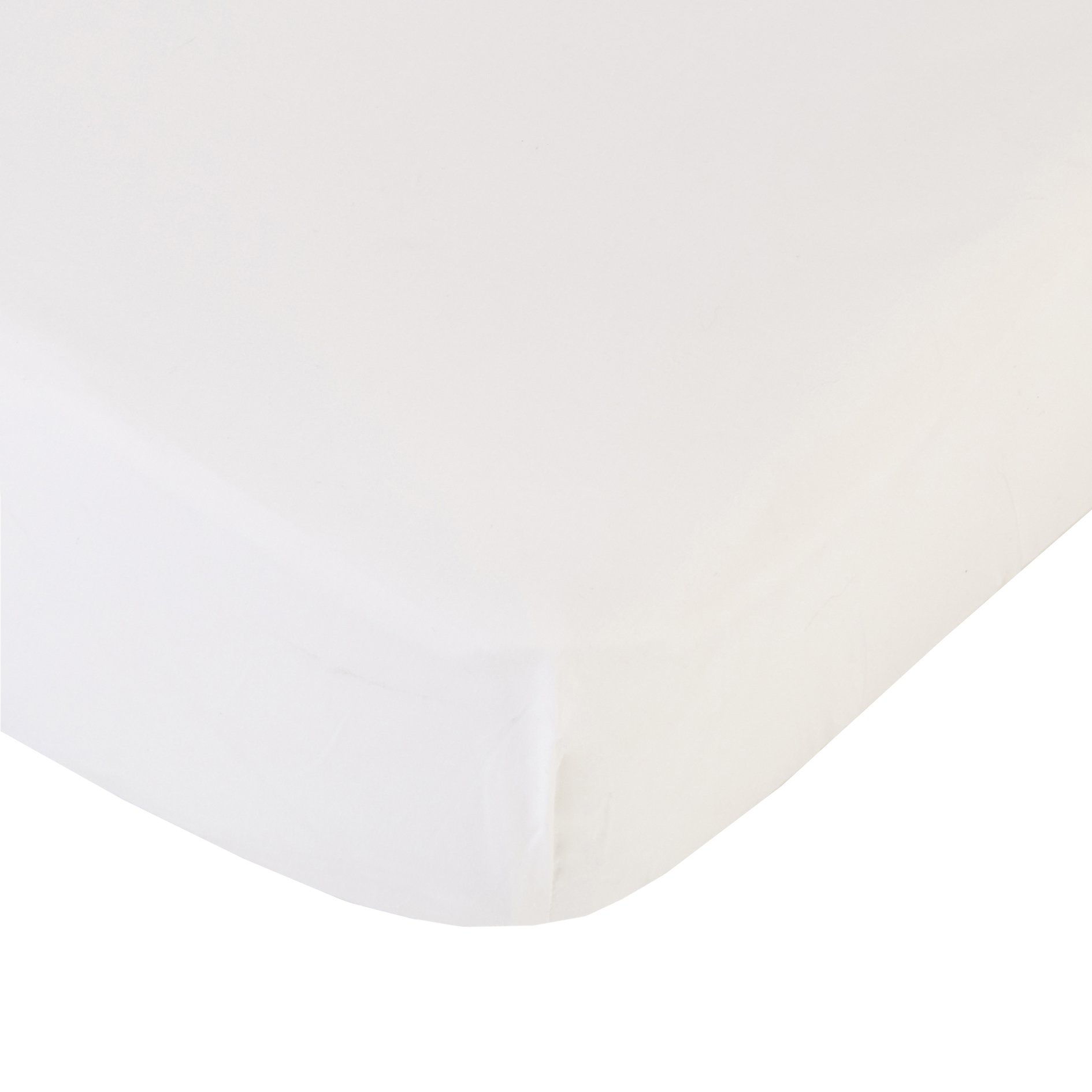 Coyuchi 220 TC Organic Percale Fitted Sheet, King, Alpine White by Coyuchi