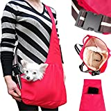Luxmo Hands-free Oxford Carrier Sling Portable Pet Shoulder Bag with Built-in Hook for Dogs, Cats Puppy Kitty Rabbit Hot Red Size: L Review