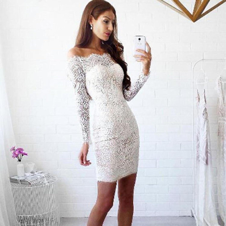 Kleider Damen Dasongff Damen Spitzekleider Elegantes Minikleid ...